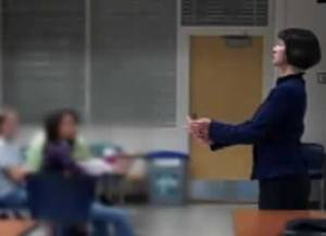 Penny teaching a class